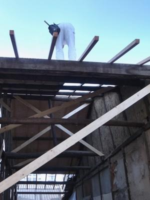 fumizononagaya屋根合板貼り1611