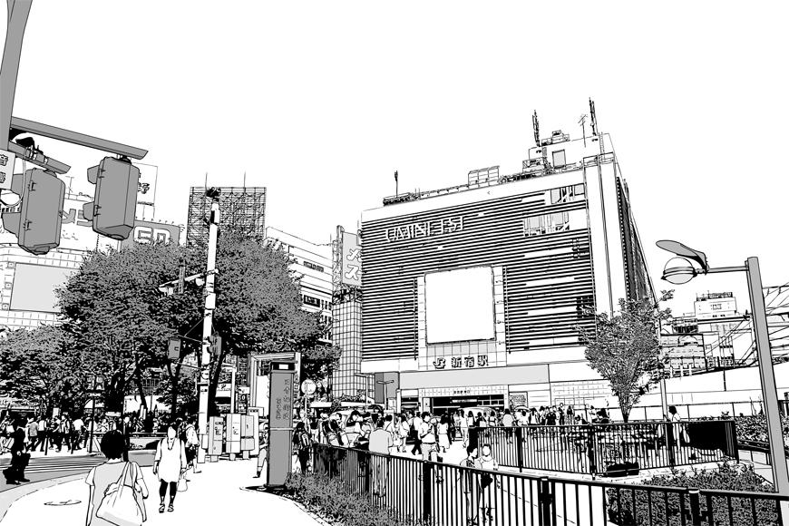 写真加工・漫画背景・新宿015