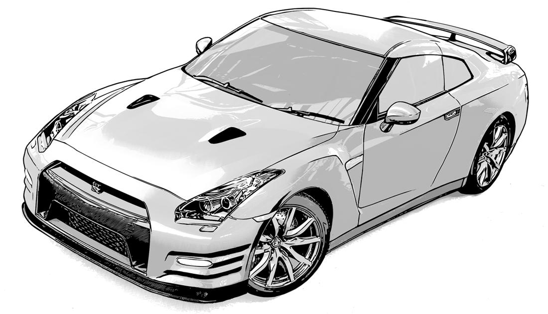 写真加工・漫画背景・車02