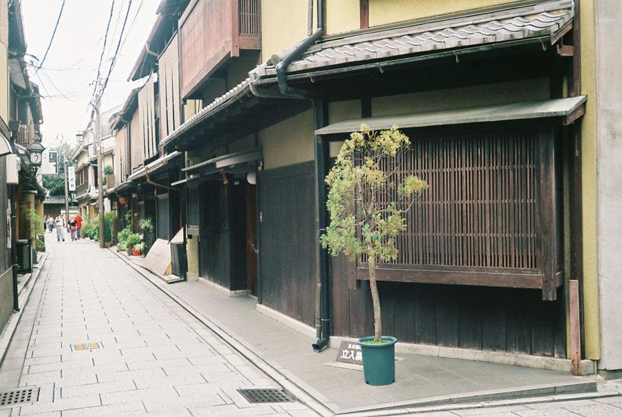 祇園の曲がり角
