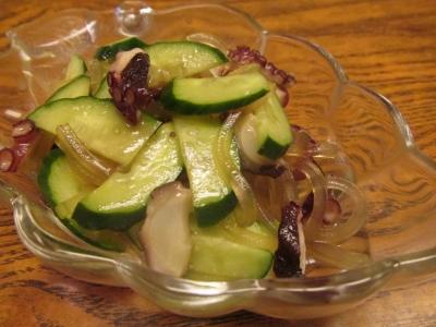 タコと葛切りのサラダ2