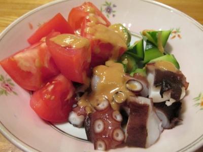 タコとトマトのサラダドレッシング1