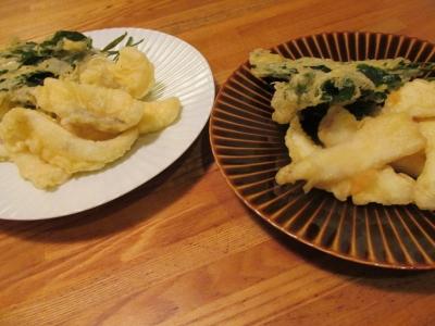 スミイカとシリヤケイカの天ぷら食べ比べ1