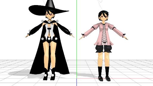 2016/07/24 MMDかずみモデル製作中 かずみ 魔法少女と普段着を並べる
