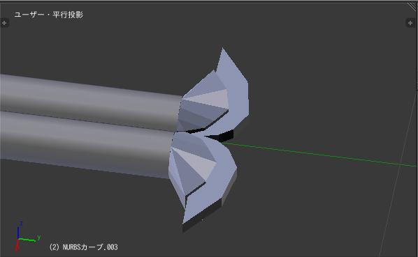 2016/09/24 MMDかずみの杖モデル製作中 杖の端の作成