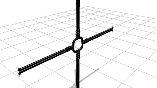 2016/09/24 MMDかずみの杖モデル製作中 スフィアマップ追加
