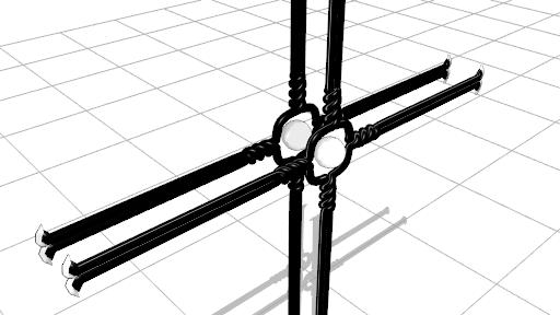 2016/09/24 MMDかずみの杖モデル製作中 スフィアマップ無しと比較