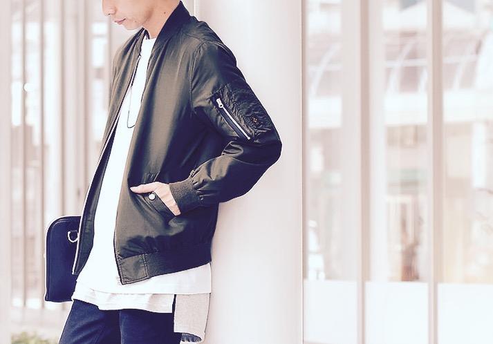 2016秋ライトアウターカッコイイMA-1ジャケット秋メンズファッション