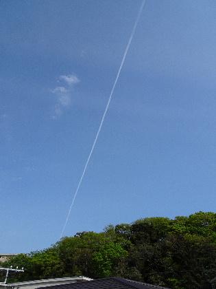 160420飛行機雲