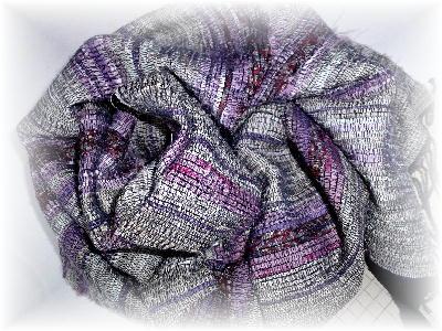 裂き織りマフラー5-1