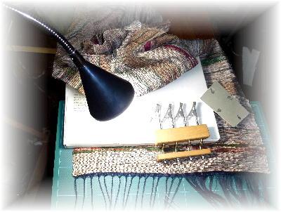 裂き織りマフラー6-4