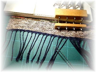 裂き織りマフラー