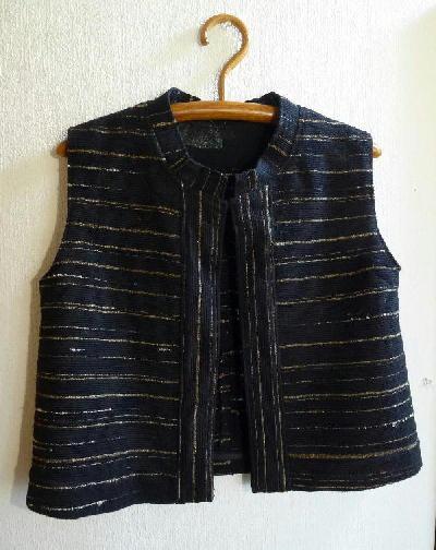 裂き織りベスト W001-1