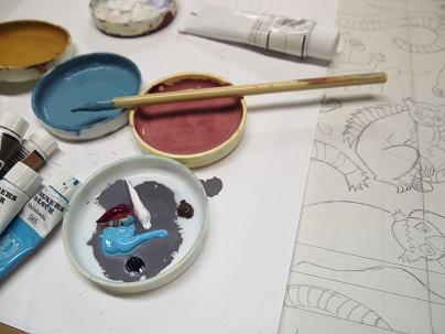 ワオ絵の具皿