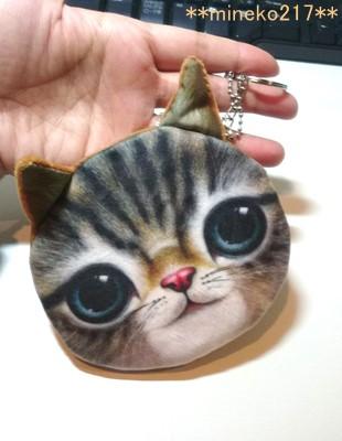 猫フェイスポーチ1
