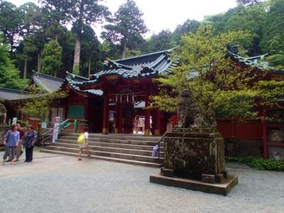 箱根神社到着。