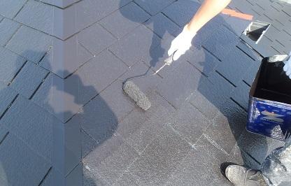 みらい住建 リフォーム 屋根塗装 上塗り ⑤