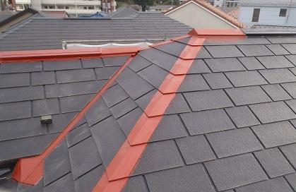みらい住建 リフォーム 屋根塗装 鉄部さび止め ハイポンデグロ 赤錆 ②