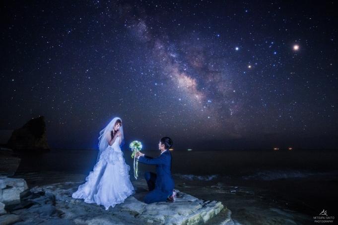 花嫁と星空