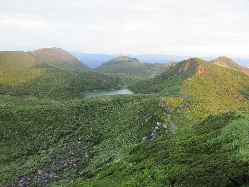 IMG4309JPG明るくなった久住山と御池