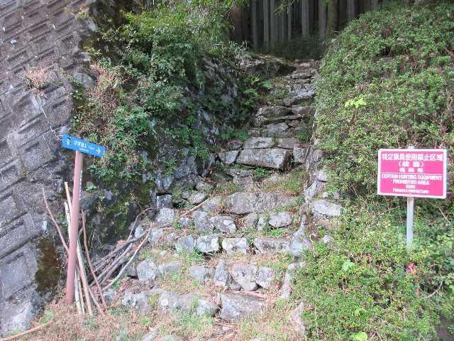 IMG6019JPG求菩提山登山口へ下山
