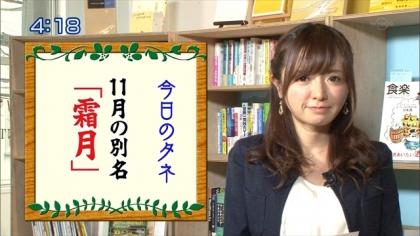 161101朝ダネ 霜月 紺野あさ美 (4)