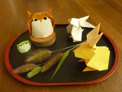 簡単 折り紙:お月見 折り紙-mogumogu0215.blog.fc2.com