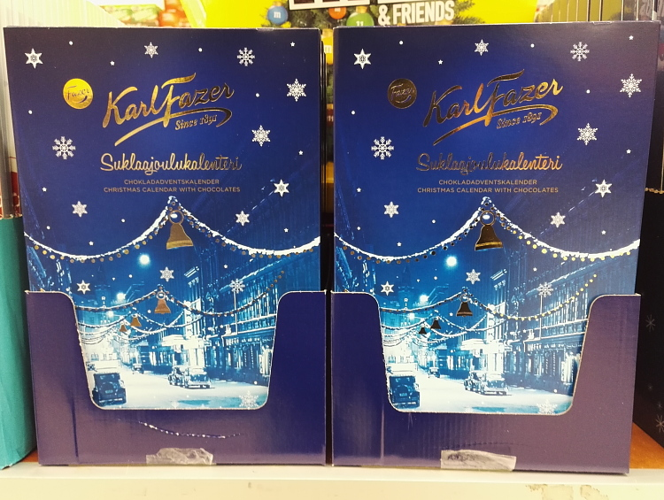 フィンランド クリスマス チョコ アドべントカレンダー Suklaa Joulukalenteri Fazer