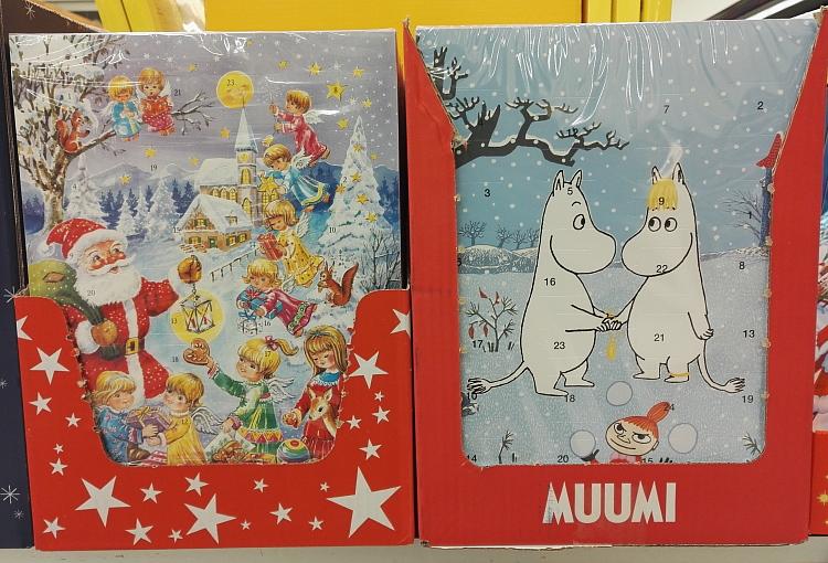 フィンランド クリスマス チョコ アドべントカレンダー Suklaa Joulukalenteri ムーミン