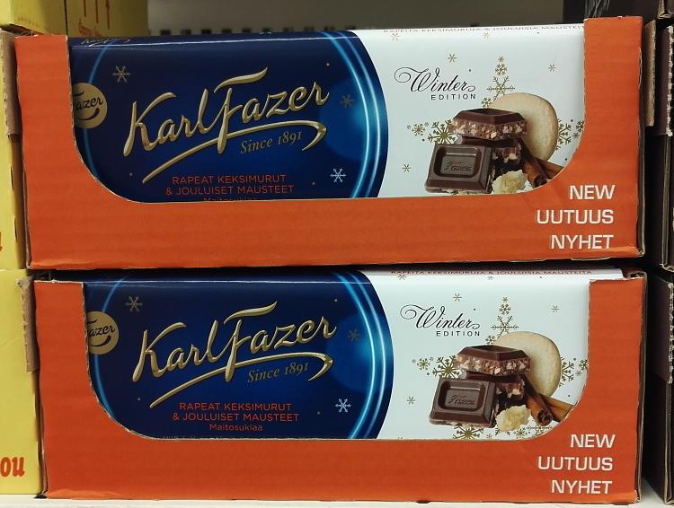 フィンランド クリスマス チョコ Fazer ウィンターエディション