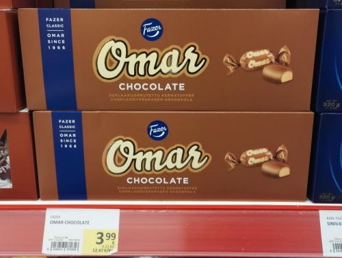 フィンランド クリスマス Fazer ボックスチョコ Omar