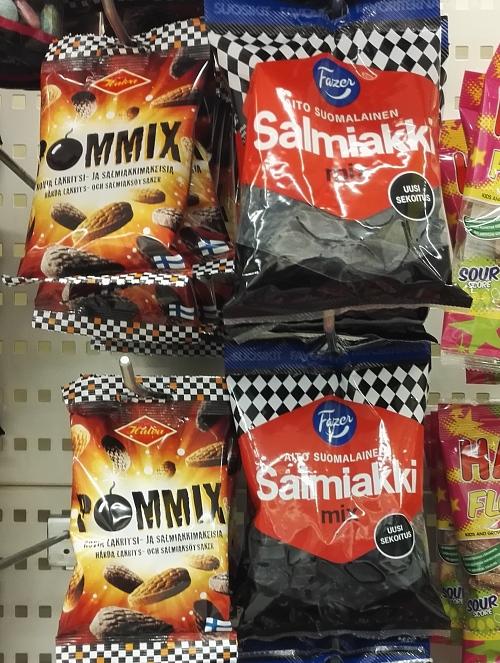 フィンランド お菓子コーナー サルミアッキ ラクリッツ