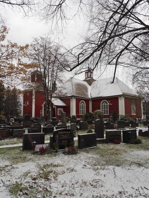 フィンランド 教会 雪 11月
