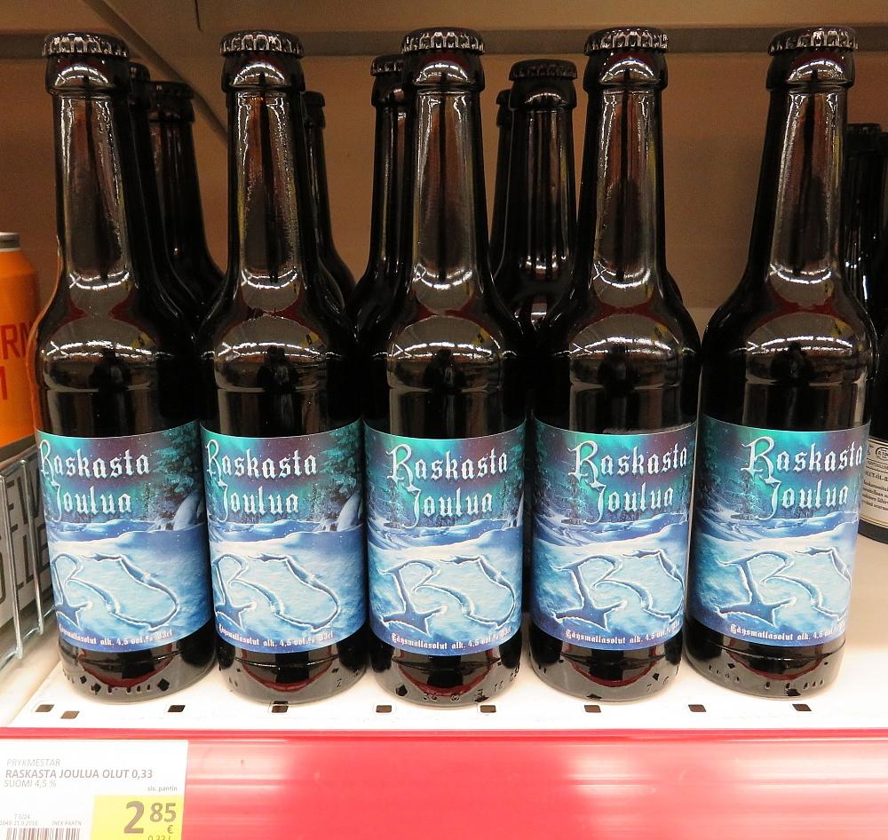 フィンランド スーパー クリスマスビール Jouluolut Raskasta Joulua