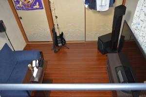 新しい部屋ベッドからの景色3