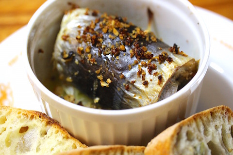 美味しい秋刀魚のベッカフィーコ