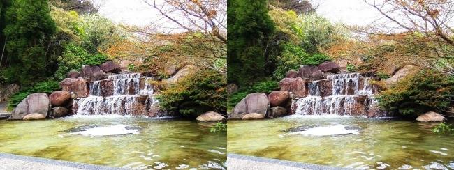 須磨離宮公園 植物園 三段滝(交差法)