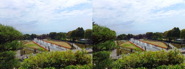 須磨離宮公園 噴水広場 メインフォール⑥(平行法)