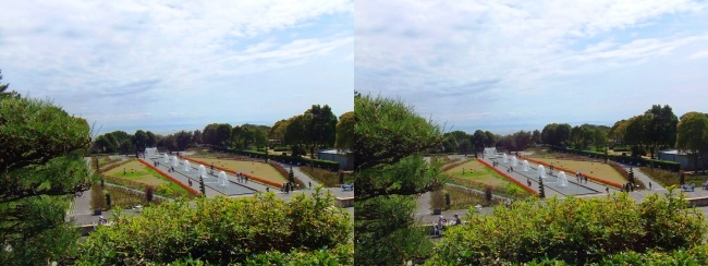須磨離宮公園 噴水広場 メインフォール⑥(交差法)