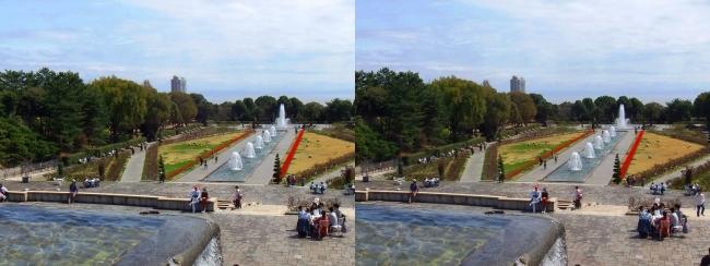 須磨離宮公園 噴水広場 メインフォール④(交差法)