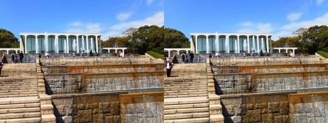 須磨離宮公園 噴水広場 カスケード②(平行法)
