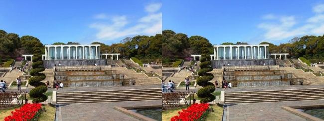 須磨離宮公園 噴水広場 カスケード①(平行法)