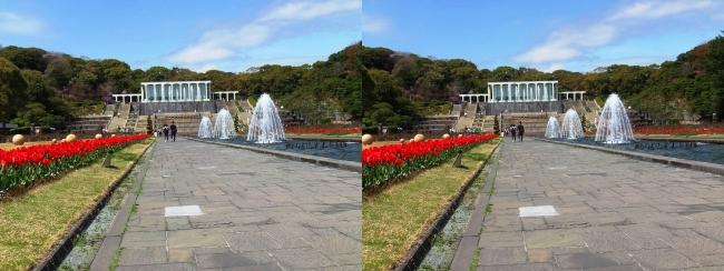 須磨離宮公園 噴水広場 キャナル小噴水③(交差法)
