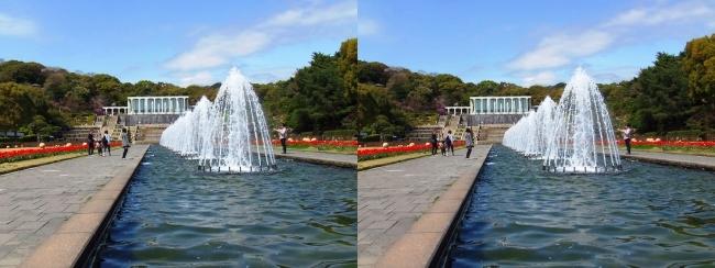 須磨離宮公園 噴水広場 キャナル小噴水②(交差法)
