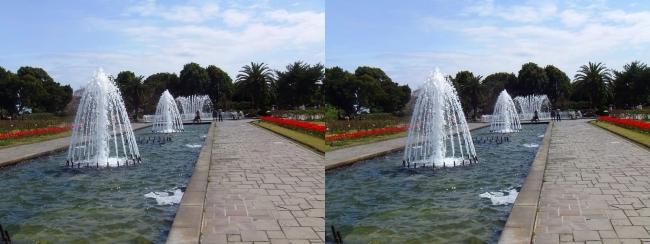 須磨離宮公園 噴水広場 キャナル小噴水①(平行法)