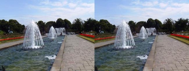 須磨離宮公園 噴水広場 キャナル小噴水①(交差法)