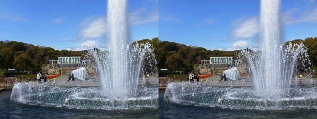 須磨離宮公園 噴水広場 大噴水①(交差法)