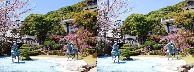 須磨寺 源平の庭②(平行法)