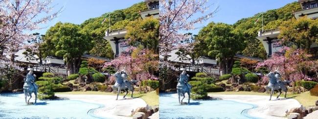 須磨寺 源平の庭②(交差法)