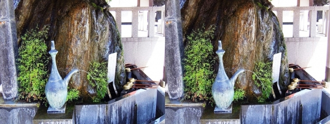 須磨寺 弘法岩五鈷水(交差法)